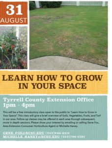 Cover photo for Learn How to Grow in Your Space -August 31, 2017