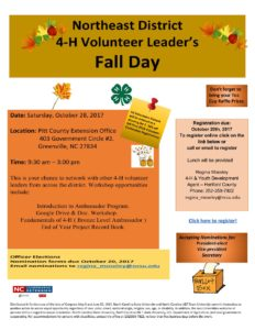 Cover photo for Northeast District Volunteer Leader'S Fall Day