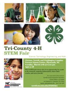 Tri County 4-H Stem Fair flyer