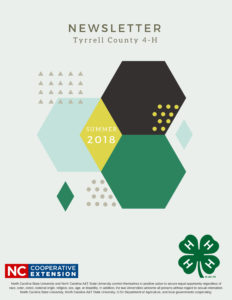 Cover photo for Tyrrell County 4-H Newsletter Summer 2018