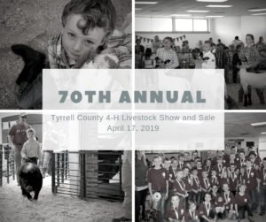Cover photo for 70th Annual Tyrrell County 4-H Livestock Show and Sale