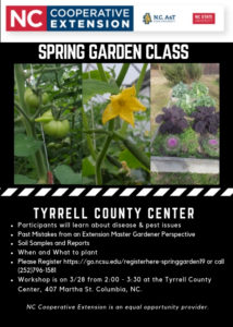 Cover photo for Spring Garden Class ~ March 28, 2019
