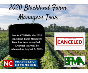 Cover photo for 2020 Blackland Farm Managers Tour Canceled