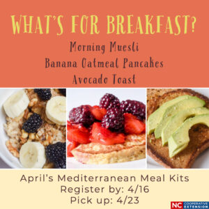 Cover photo for April's Mediterranean Meal Kits ~ What's for Breakfast?