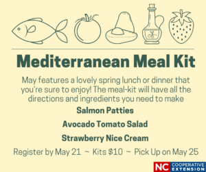 Cover photo for May Mediterranean Meal Kit - Registration Now Open!
